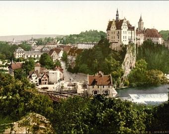 24x36 Poster . Sigmaringen, Germany Photochrom 1895