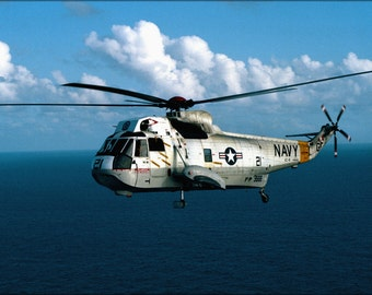 24x36 Poster . U.S. Navy Sikorsky Sh-3G Sea King Helicopter 1983