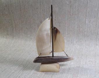 SALE!!!  Vintage Horn Sailboat