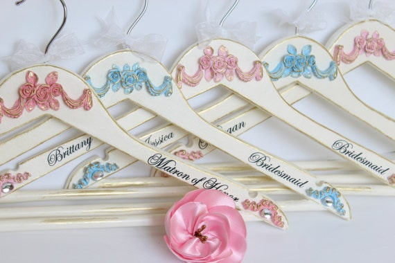 French Wedding Gifts: Bridesmaid Gifts Wedding Hangers Bride Gift French Rococo