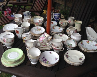 Vintage china cups saucers
