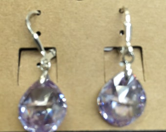 Sterling silver .925 and Swarovski crystals earrings