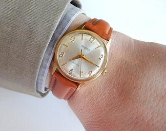Rare Wostok watch, Soviet Watch Vostok, USSR men's watch Wostok Wrist watch russian Mechanical Wostok Full working Gold Plated vintage watch