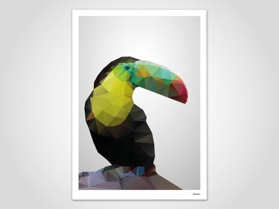 Tukan moderne poster abstrakte kunstdrucke zeitgem e wall - Abstrakte kunstdrucke ...