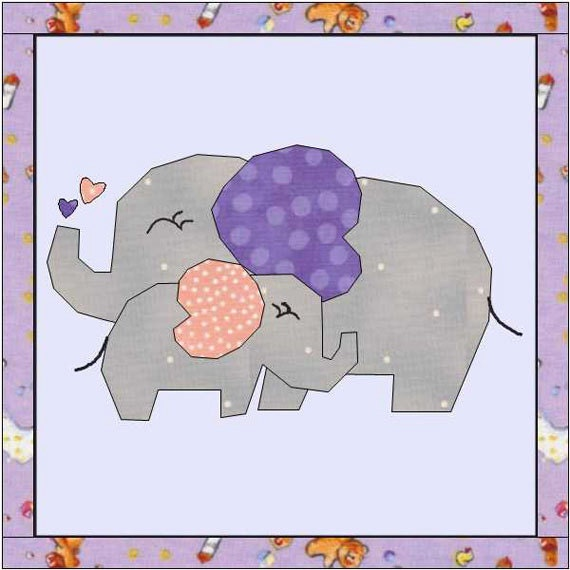 Elephant Quilt Pattern Quilt Patterns Baby Quilt Baby : elephant quilt patterns - Adamdwight.com