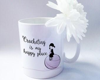 Crochet Mug, Crochet Gifts, gifts for her, gifts for mum. Ceramic Mug.