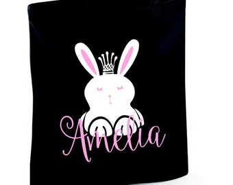Kids easter gift etsy gifts for her easter gift womens gifts bunny crown cotton tote bag free shipping negle Choice Image