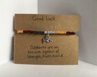 Good Luck Elephant Handmade Elephant Friendship Bracelet