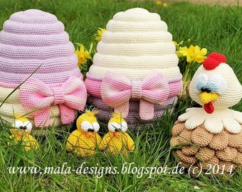 easter egg, crochet pattern by mala designs
