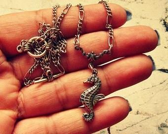 Silver Seahorse Necklace, Seahorse Accessories, Seahorse Jewelry, Seahorse Jewlery, Gift For Seahorse Lovers, Seahorse Pendant Necklace
