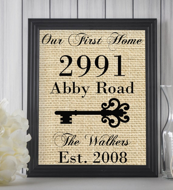 Our First Home Sign Housewarming Gift House By Letteredwhimsy