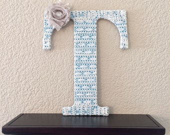 Front Door Initial, Wreath Initial, Decorative Letters, Lace Letters, Initial Decor, Shabby Chic Nursery Letters, Housewarming Gift