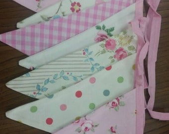 French country chic bunting 3m  8 flags