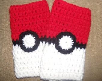 Pokemon fingerless gloves