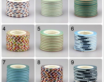 Clearence, Solid Stripes and Checks, 3mm Washi Tape