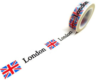 London & British Flag Washi Tape