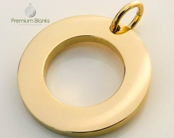25MM Gold Washer Hand Stamping Blank MEASURING 25MM X 2.5MM thick 10ga Whole Sale Metal Stamping Blanks,