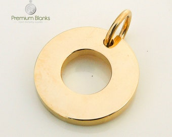 10g Stainless Steel 19MM Gold Washer Hand Stamping Blank 19MM X 2.5MM, metal stamping, hand stamped, jewellery supplies, wholesale, washer
