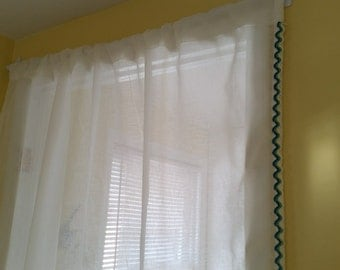 Curtains, Sheer Curtains, White Sheer Curtains , Sheer off white Curtains,Sheer Voile Curtain Panel, Ivory Sheer Panels, Lace Curtains.