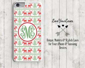 iPhone 6s Case, iPhone 6 Case, iPhone 6 Plus Case, iPhone 5 Case, iPhone 5c Case, Personalized iPhone, Reindeer, Christmas Phone Case, 183