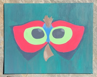 Abstract Owl Acrylic Painting