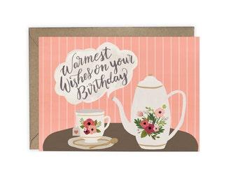 Tea - 'Warmest Wishes' - Birthday Card (The Kirstie)
