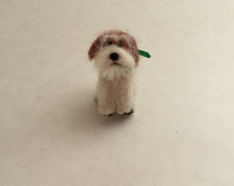 Needle-Felted Shih Tzu Dog Sculpture