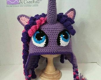 My Little Pony Twilight crochet hat