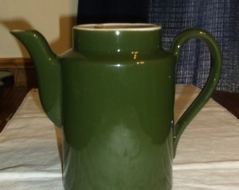 Vintage Hall Dark Green Ceramic Coffee Pot