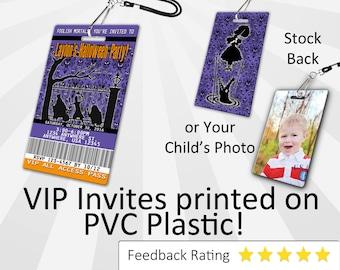 Halloween Invitations PLASTIC!!! Personalized Halloween Party Invitation - Haunted Mansion Invitation - Haunted Mansion - SKU-INV130