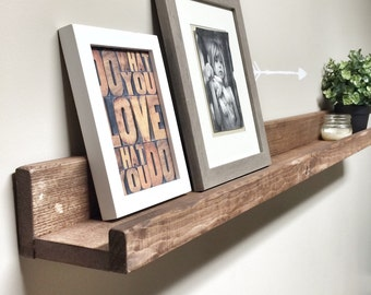 rustic wooden picture ledge shelf gallery wall shelf rustic floating shelf wooden shelf