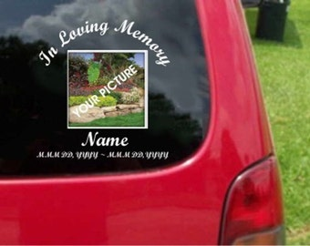 Custom In Loving Memory Decal Your Own Photography/Picture Sticker Decals 20 Colors To Choose From.  U.S.A Free Shipping