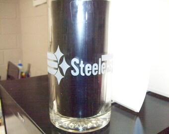 pitsburg steelers etched beer mug