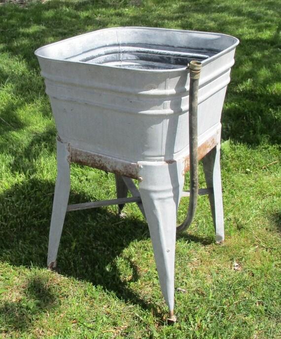 ... Single Wash Tub Beer Cooler Flower Pot Plant Stand Bucket bj