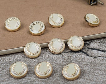 10 pieces Metal / Plastic Buttons,Metal Buttons For Coat,11.5mm (167-25)