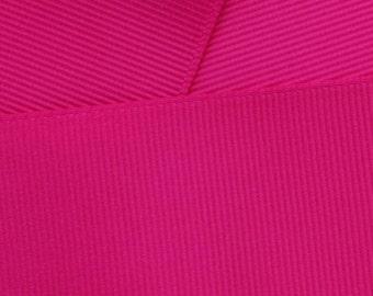 """1.5"""" Grosgrain Ribbon Solid 187 Fuchsia 5yd"""