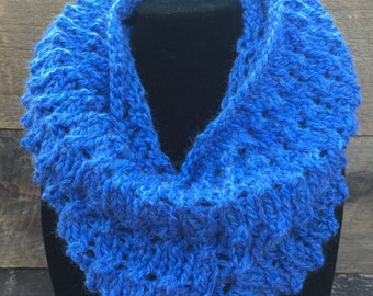 Soft Bright Blue Snood | Infinity Scarf  |  Blue Cowl | Super Soft | Hood | Circle Scarf | Gift for Her