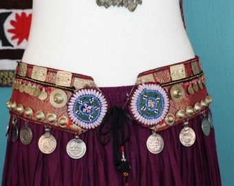 Tribal-Belt with Sarimaterial, Size XL, length 43,30 ""