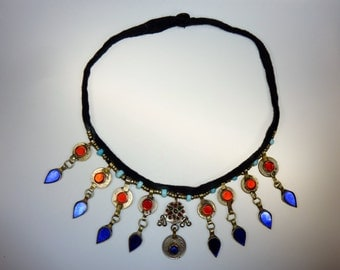 Kuchi Tribal Necklace with Pendants, vintage, Tribal-Necklace