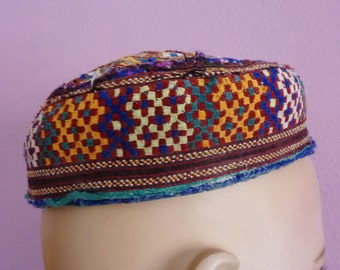 Traditional Vintage Afghani, Central Asian Cap