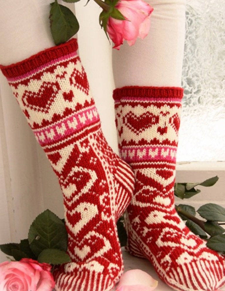 knit socks wool socks knitted socks Scandinavian by WoolMagicShop