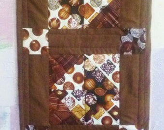 Chocolate Lovers Quilted Table Runner, Delightful No Calorie treat
