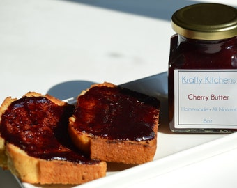 Sweet Cherry Butter 8 oz  - All Natural