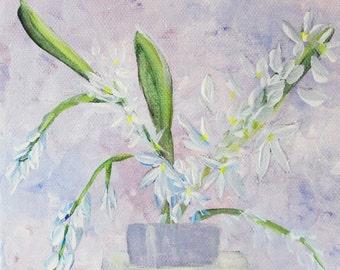 Original Acrylic Painting Floral 6x6
