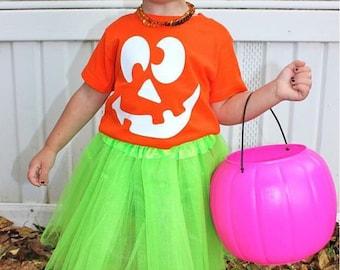 Halloween shirt, toddler halloween shirt, pumpkin face shirt, glow in the dark, halloween,