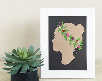 Heart Silhouette Papercut - 5x7