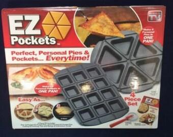 Pocket Pie Pastry Pocket Maker New Easy Nonstick Homemade 4 Piece Set + Recipes