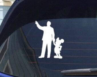 Disney Walt and Mickey Decal Sticker