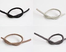 2 square knot leather strap. Leather,Bracelet,Anklet,gift,cute supply,Simple,supplies,Unique strap, Wish,special,