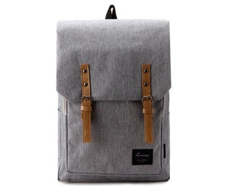 Decent Laptop Canvas Backpack (Gray)